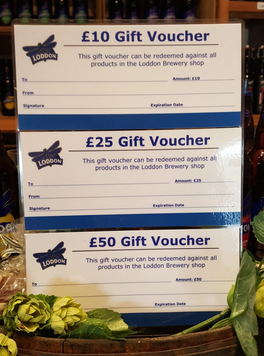 Loddon Brewery Gift Vouchers Available