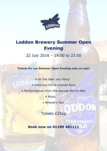 Loddon Brewery Opening Hours